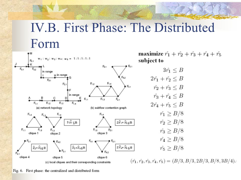 IV.B. First Phase: The Distributed Form
