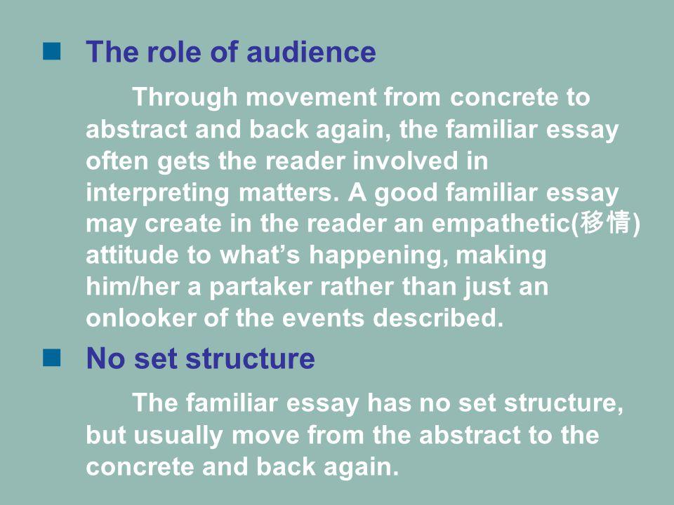 Use of figurative language.
