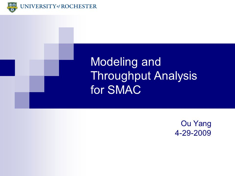 2 Outline Motivation and Background Methodology - 1-D Markov Model for SMAC without retx - 2-D Markov Model for SMAC with retx Throughput Analysis - 1-D Markov Model for SMAC without retx - 2-D Markov Model for SMAC with retx Model Validation Conclusions