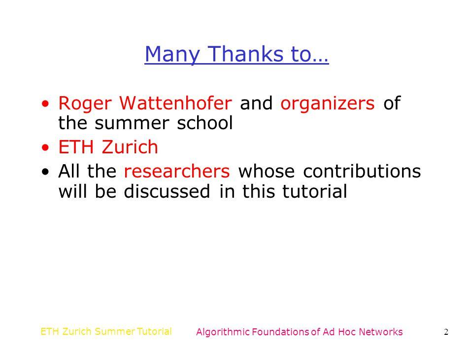 ETH Zurich Summer TutorialAlgorithmic Foundations of Ad Hoc Networks33 Markov Chain Model Bianchi 00