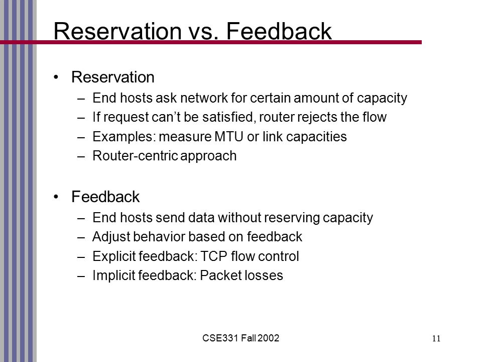 CSE331 Fall 200211 Reservation vs.