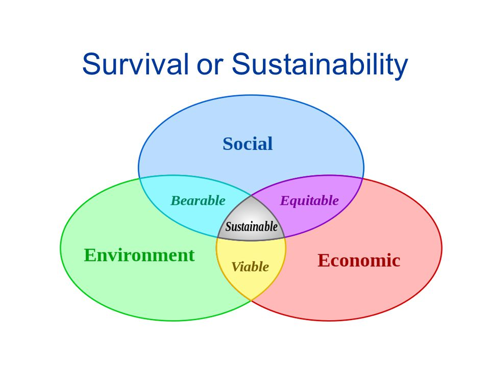 Survival or Sustainability