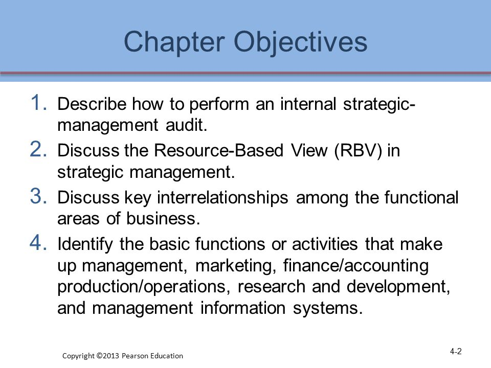 Chapter Objectives 5.