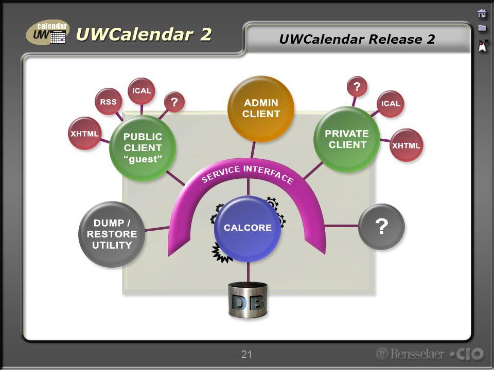 UWCalendar 2 21 UWCalendar Release 2