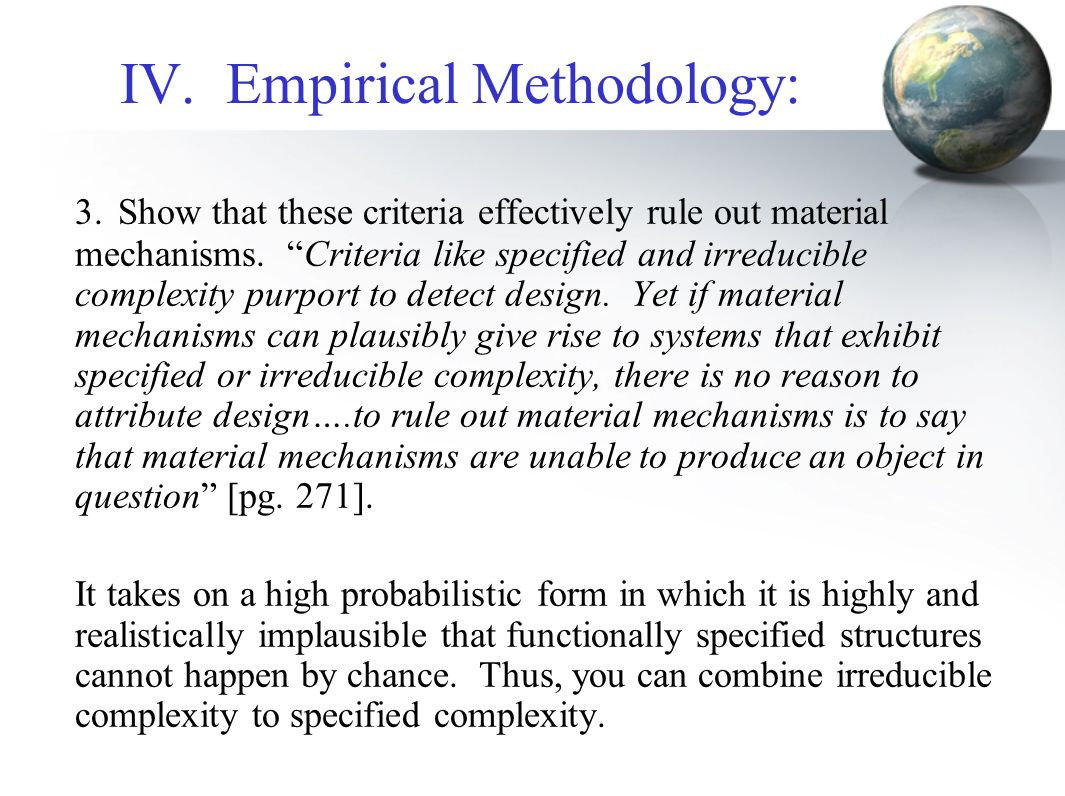 IV. Empirical Methodology: 3.Show that these criteria effectively rule out material mechanisms.