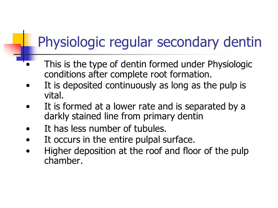Physiologic regular secondary dentin CPD Reparative D CPD