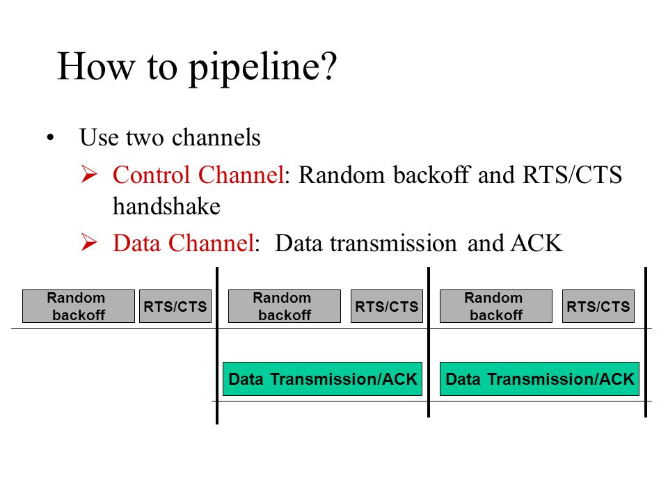 How to pipeline.