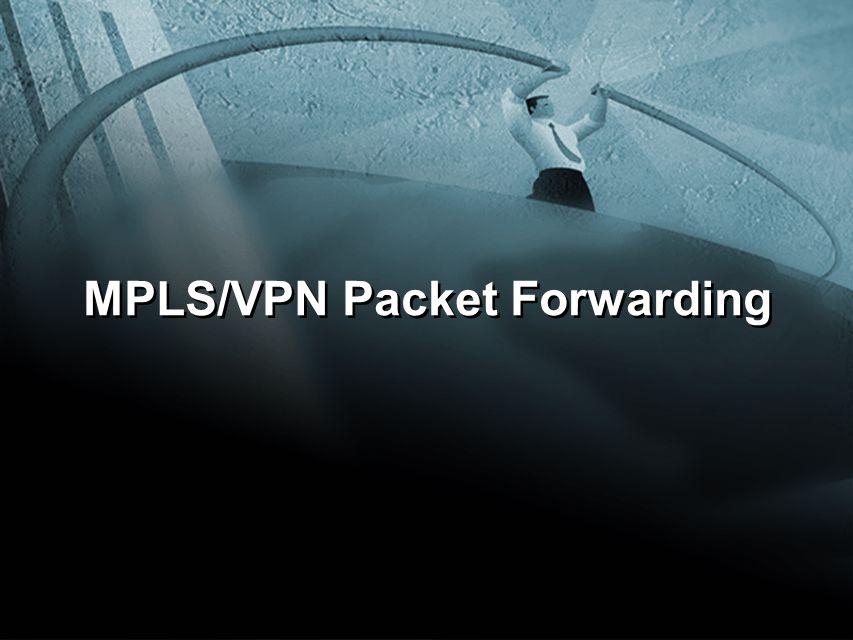 MPLS/VPN Packet Forwarding