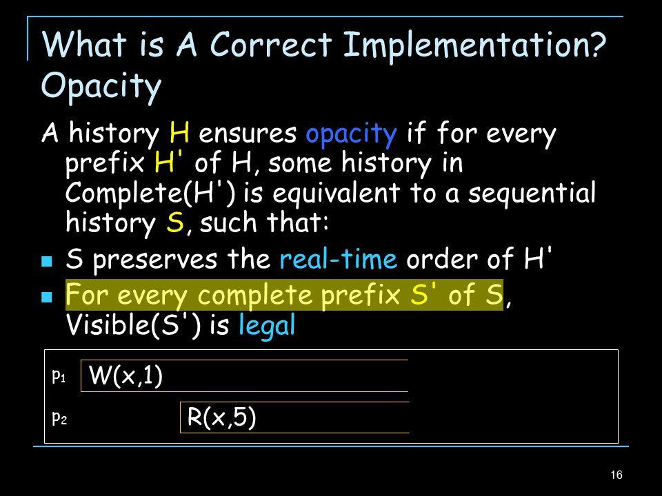 16 What is A Correct Implementation.