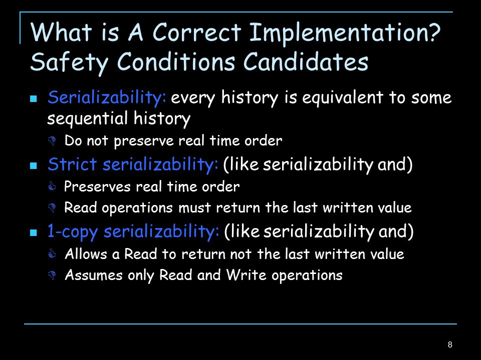 9 What is A Correct Implementation.