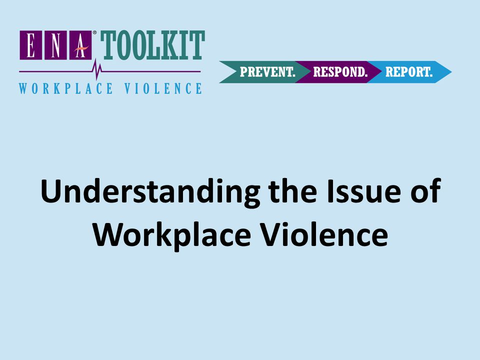 Understanding the Issue of Workplace Violence
