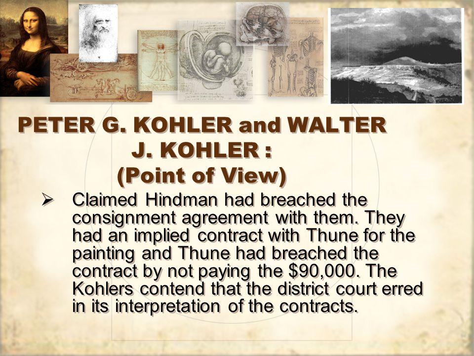 PETER G. KOHLER and WALTER J.