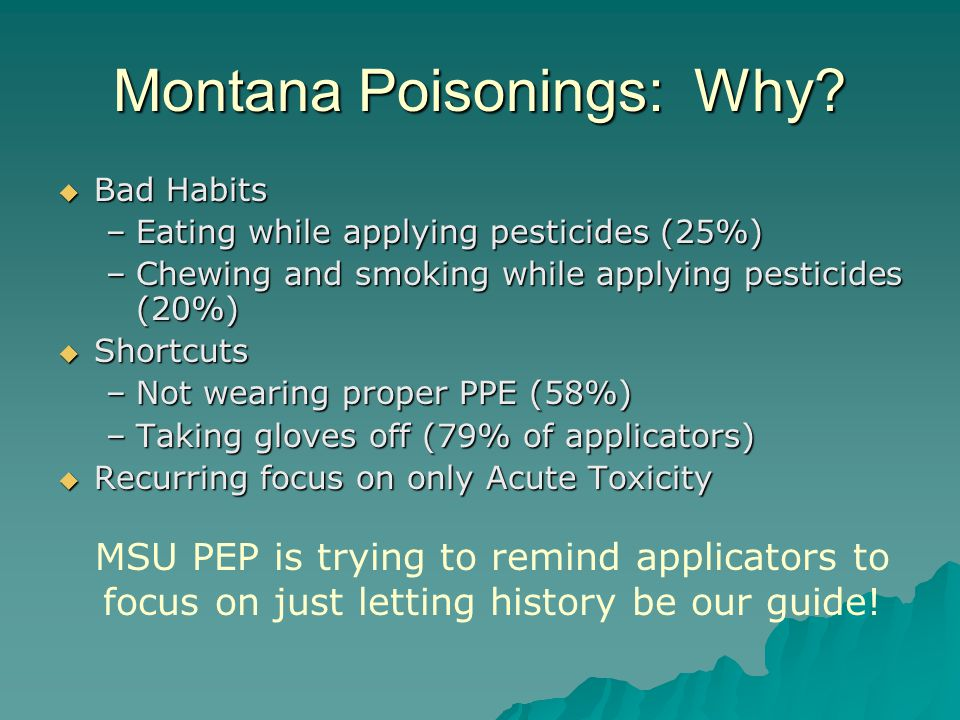 Montana Poisonings: Why.