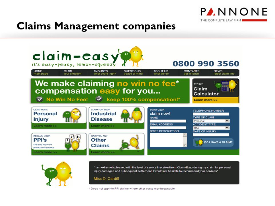 Claims Management companies