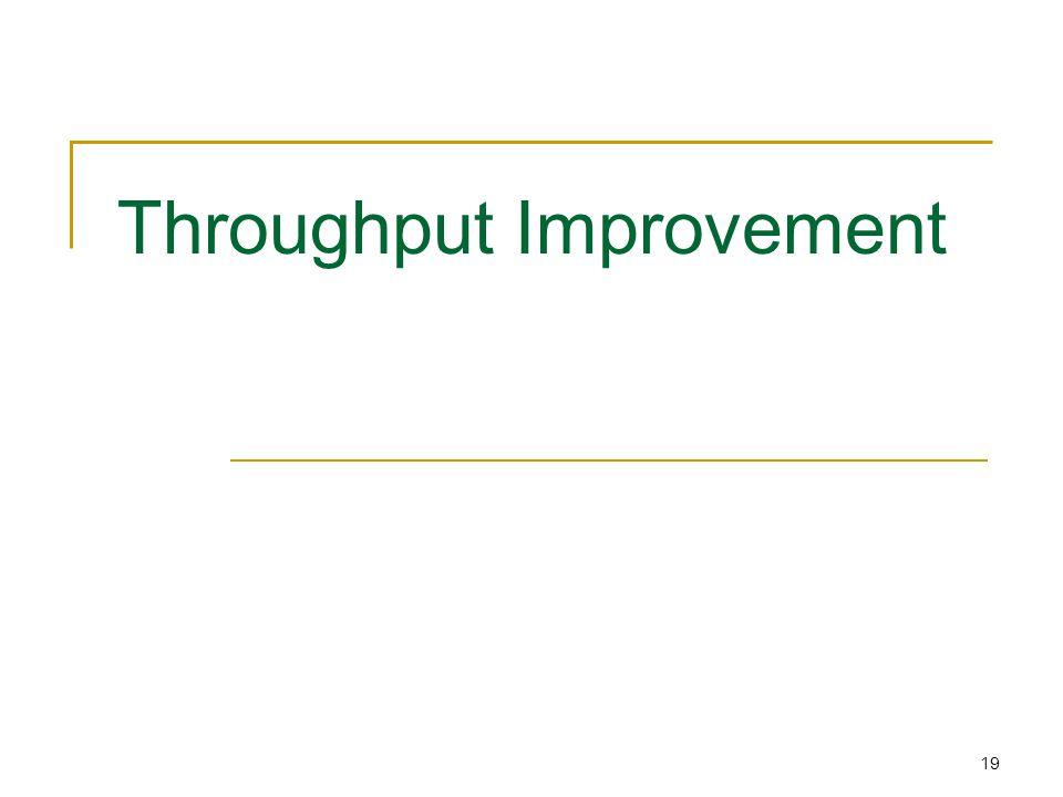 19 Throughput Improvement