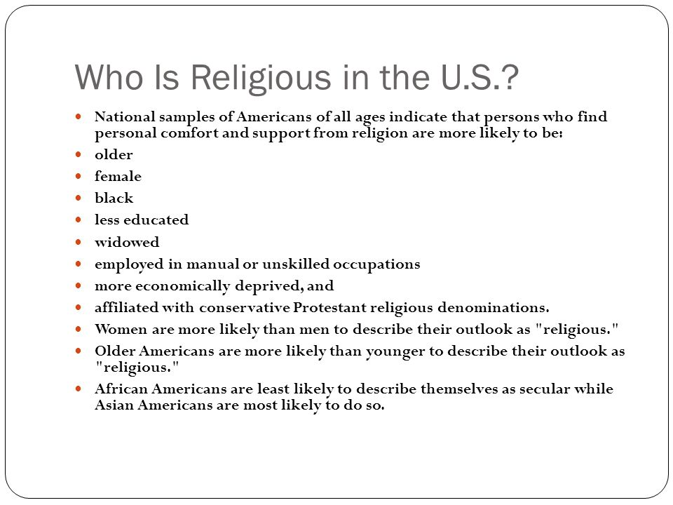 Who Is Religious in the U.S..