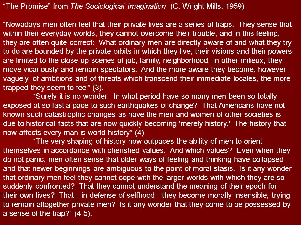 The Promise from The Sociological Imagination (C.