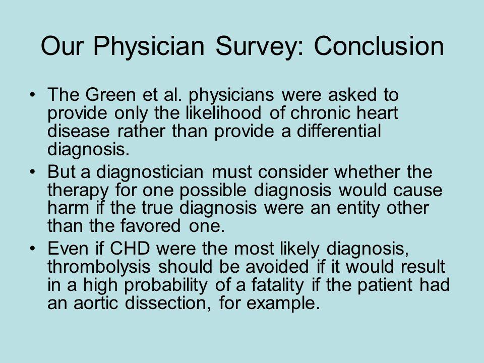 Our Physician Survey: Conclusion The Green et al.