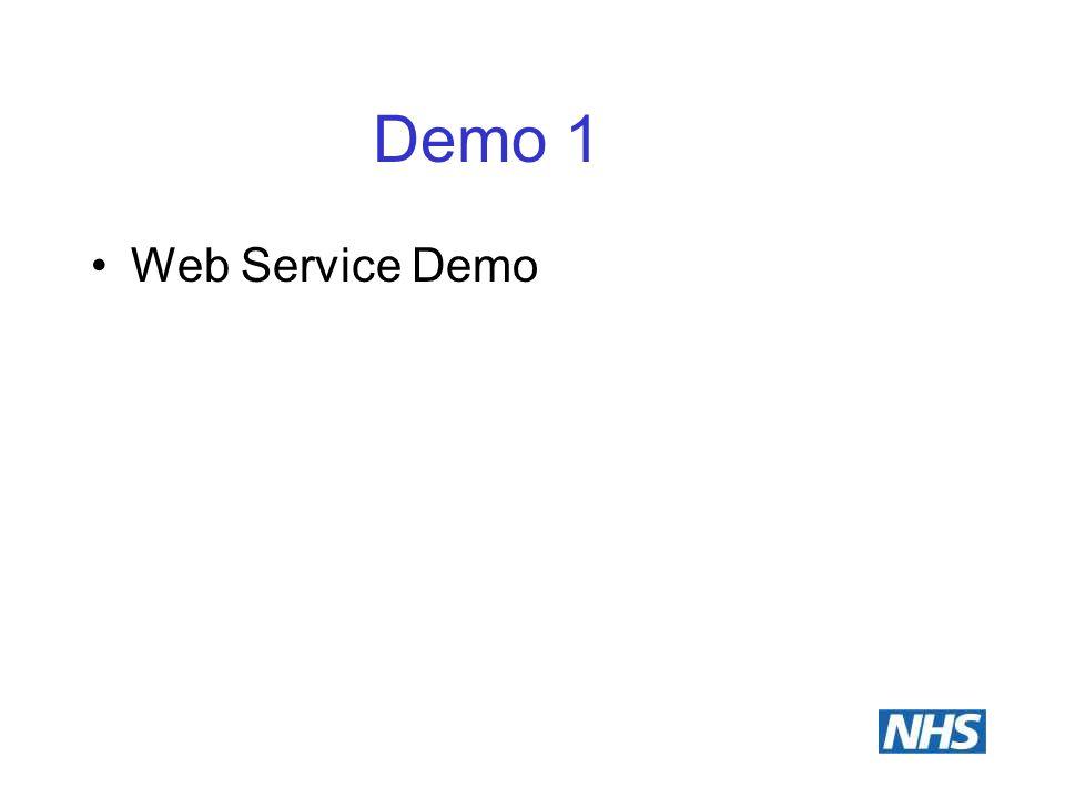 Demo 1 Web Service Demo