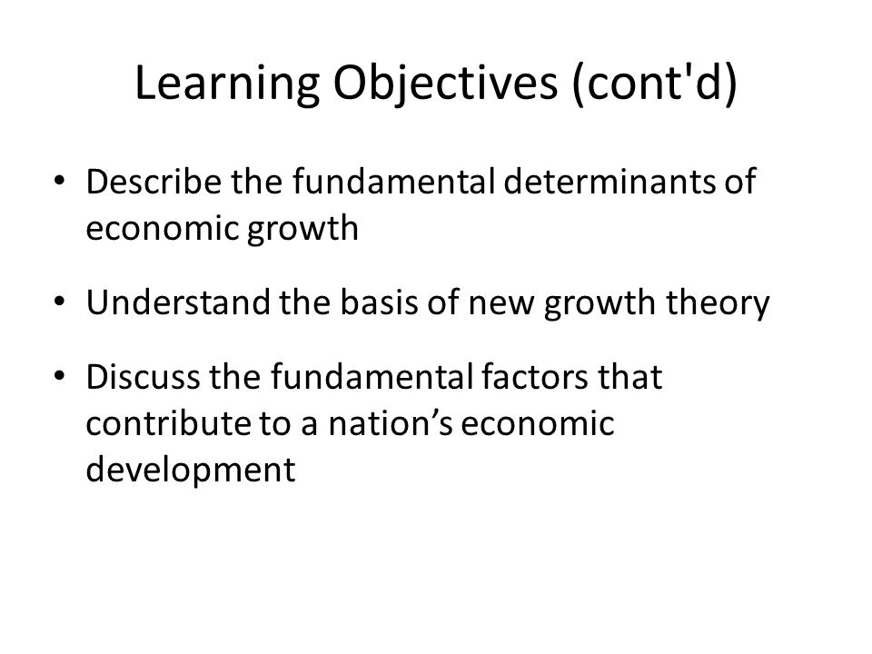 Chapter Outline How Do We Define Economic Growth.