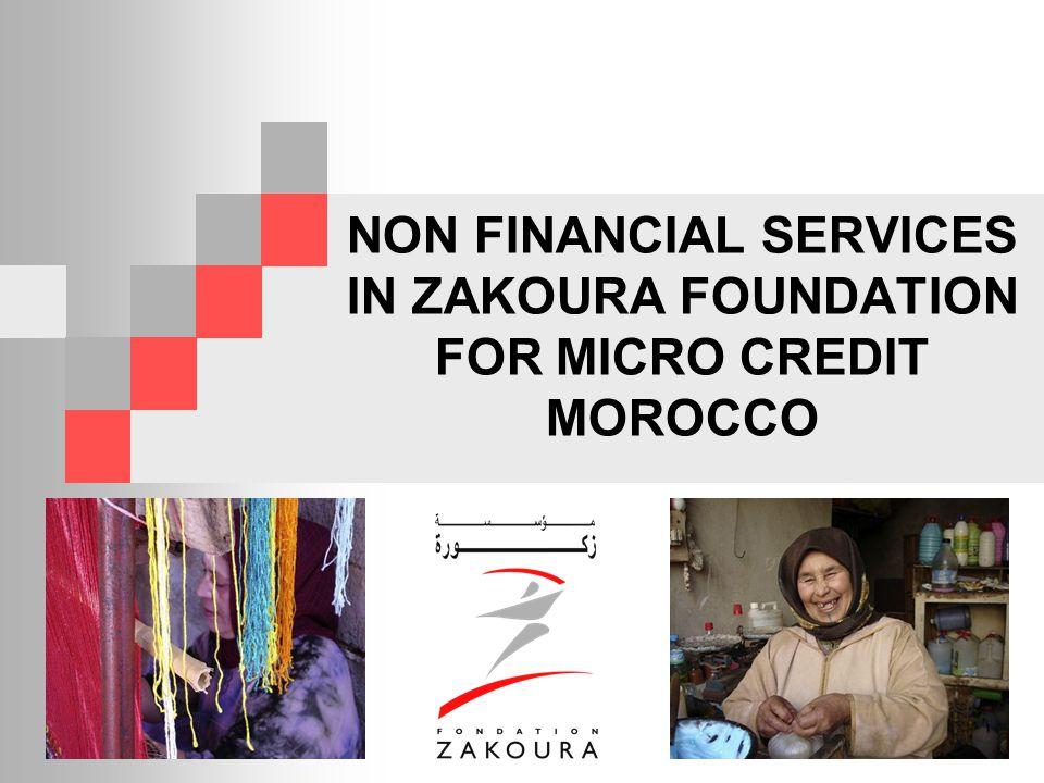 NON FINANCIAL SERVICES IN ZAKOURA FOUNDATION FOR MICRO CREDIT MOROCCO