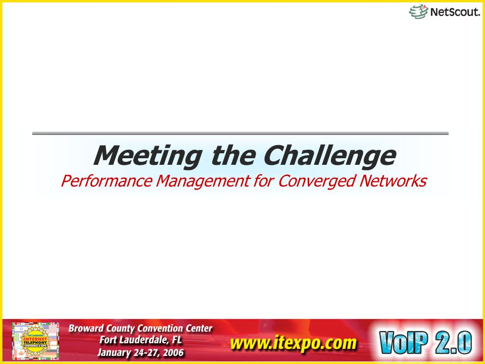 Meeting the Challenge Performance Management for Converged Networks