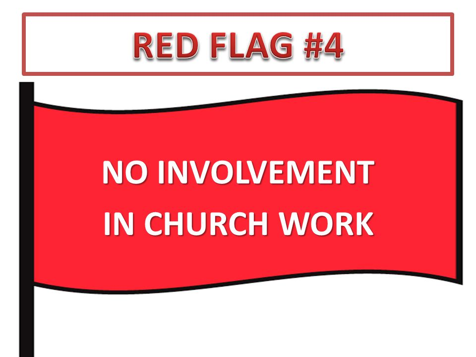 NO INVOLVEMENT IN CHURCH WORK