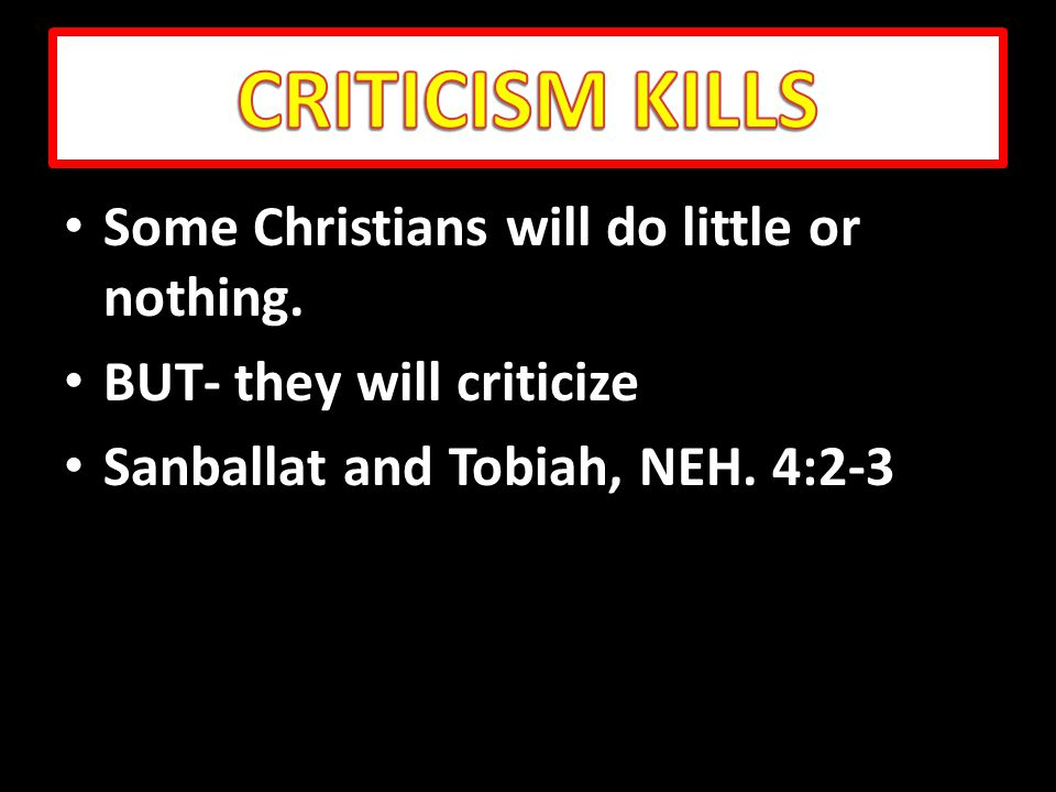 Some Christians will do little or nothing. Some Christians will do little or nothing.