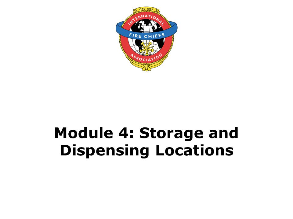 Module 4: Storage and Dispensing Locations
