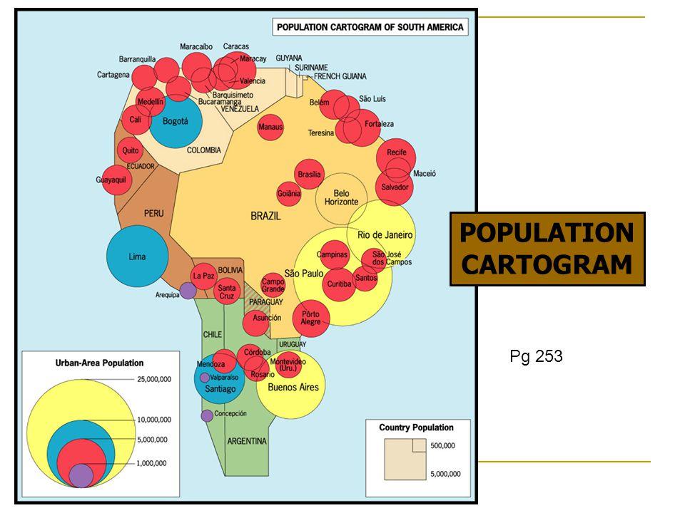 POPULATION CARTOGRAM Pg 253