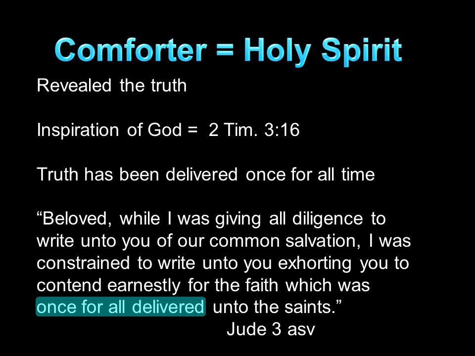 Revealed the truth Inspiration of God = 2 Tim.