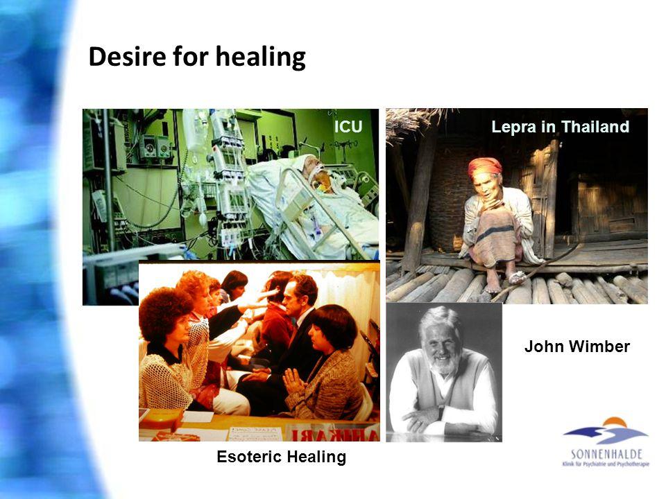 ICULepra in Thailand Desire for healing John Wimber Esoteric Healing