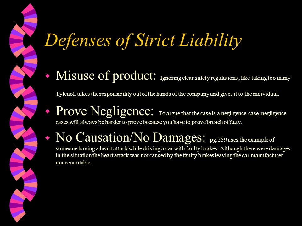 Elements of Strict Liability w Causation w Damages Next
