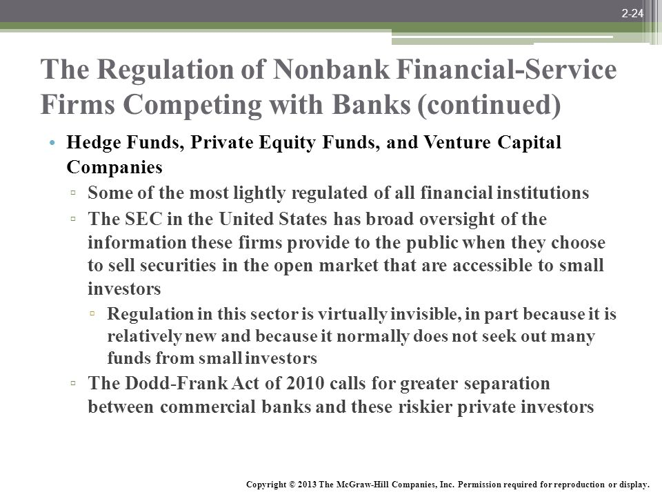 McGraw-Hill/Irwin Bank Management and Financial Services, 7/e © 2008 The McGraw-Hill Companies, Inc., All Rights Reserved. The Regulation of Nonbank F