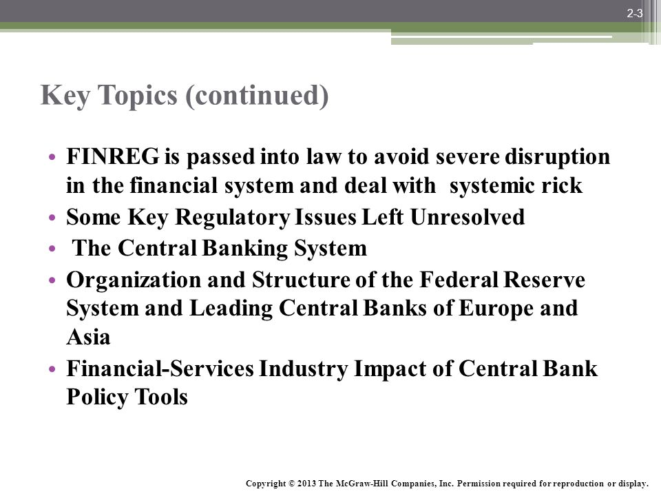 McGraw-Hill/Irwin Bank Management and Financial Services, 7/e © 2008 The McGraw-Hill Companies, Inc., All Rights Reserved. Key Topics (continued) FINR