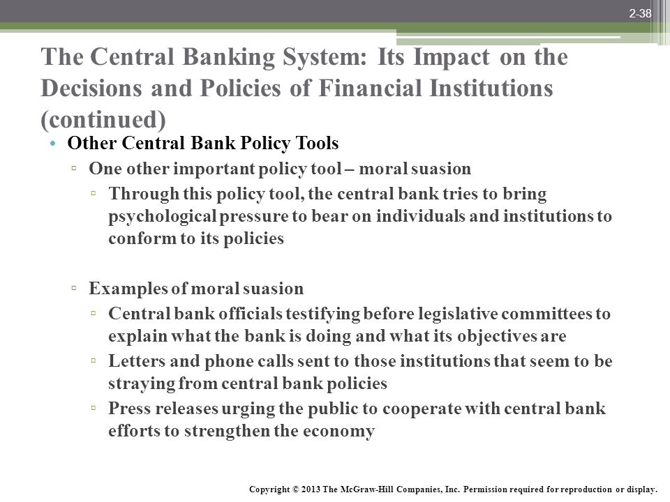 McGraw-Hill/Irwin Bank Management and Financial Services, 7/e © 2008 The McGraw-Hill Companies, Inc., All Rights Reserved. The Central Banking System: