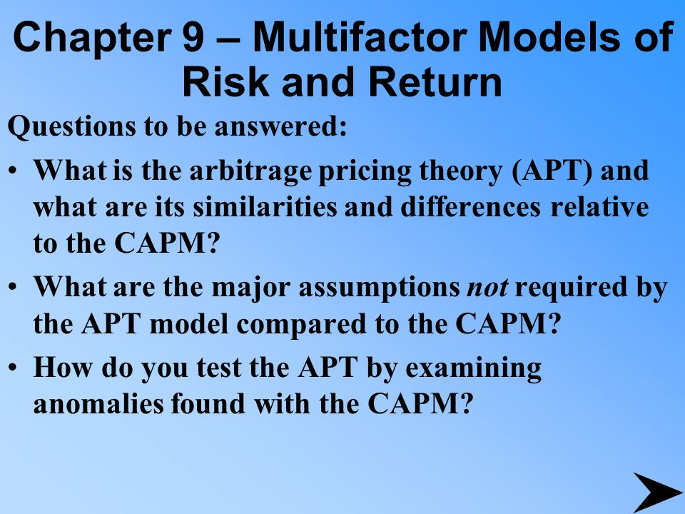 Example of Two Stocks and a Two-Factor Model = changes in the rate of inflation.
