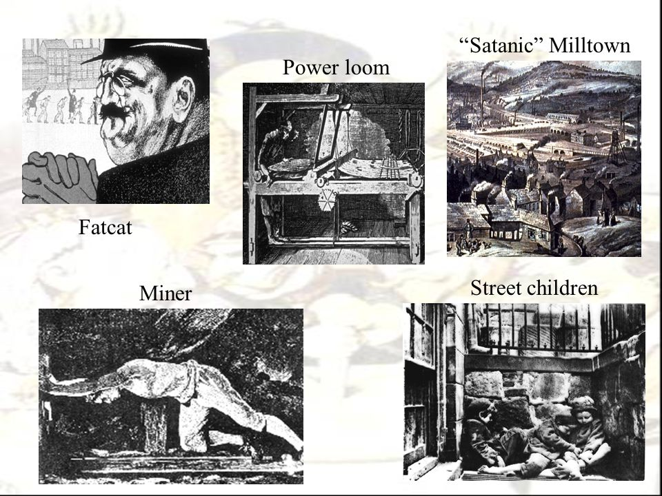 "Fatcat Miner Power loom ""Satanic"" Milltown Street children"