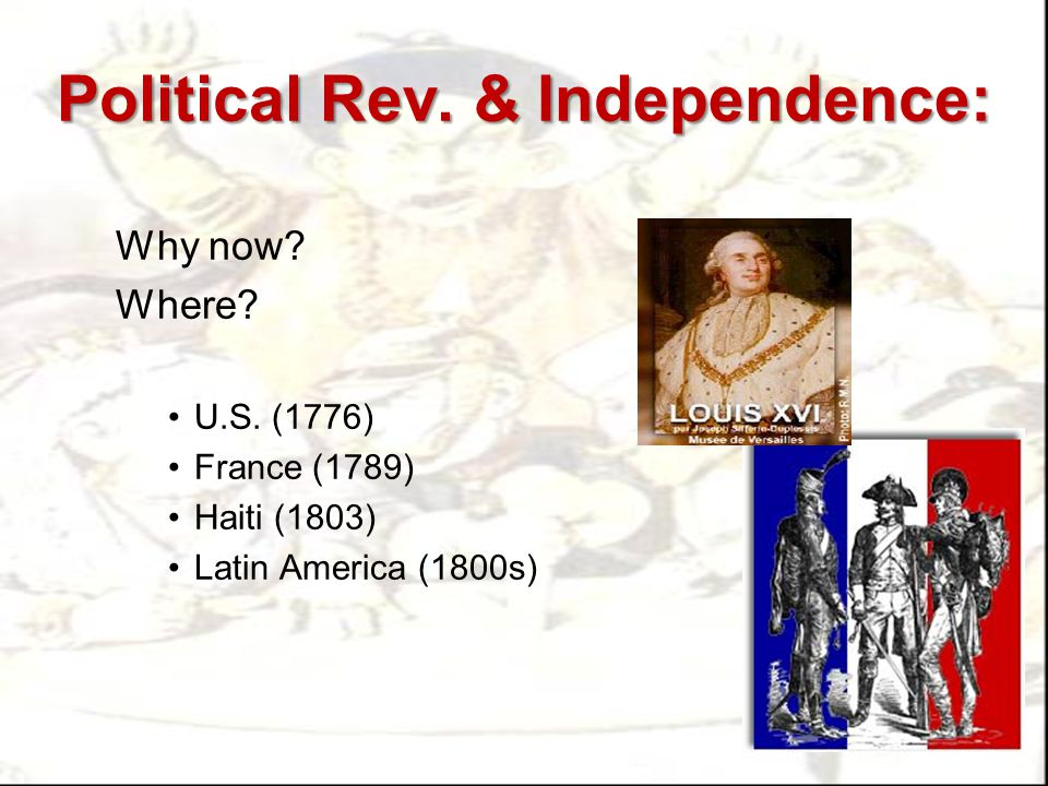 American Rev.No taxation w/out representation July 4, 1776: Dec.