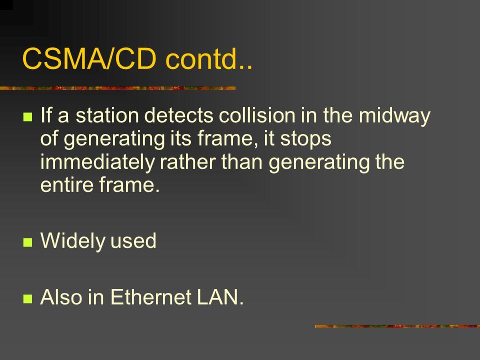 CSMA/CD contd..