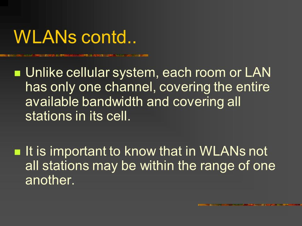 WLANs contd..