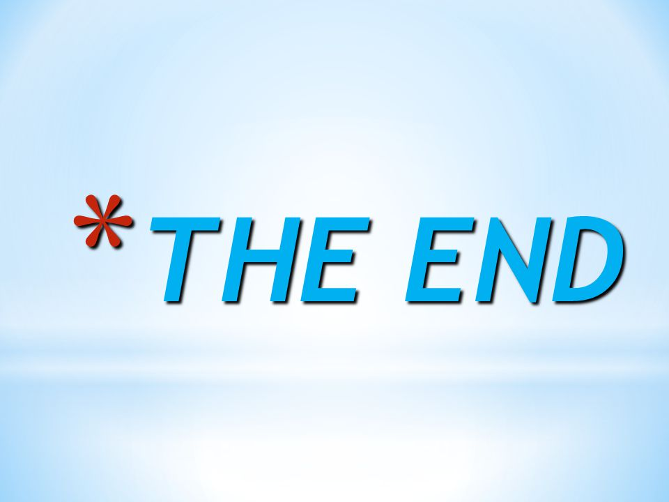 * THE END