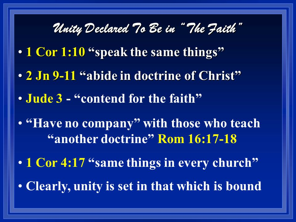 The Faith Describes 3 Categories of Action Things Commanded or Forbidden Things Commanded or Forbidden  Only one course is right when things are commanded: obey God - Mt 26  Only one course is right when things are forbidden: refuse to act - 2 Jn 9-11 But there is another category of action