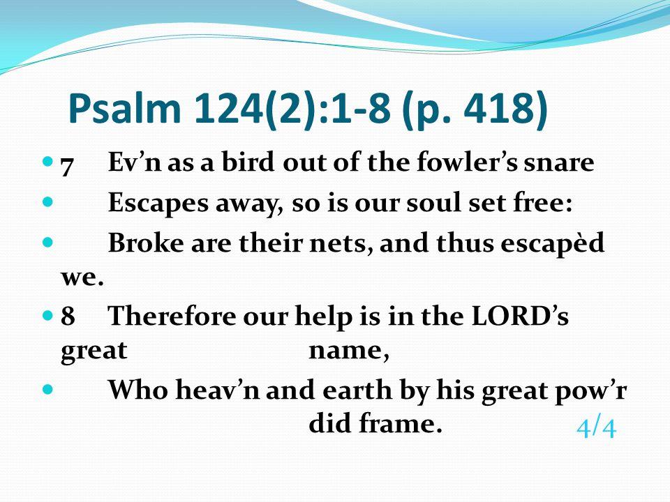 Psalm 127 (Pew Bible p.