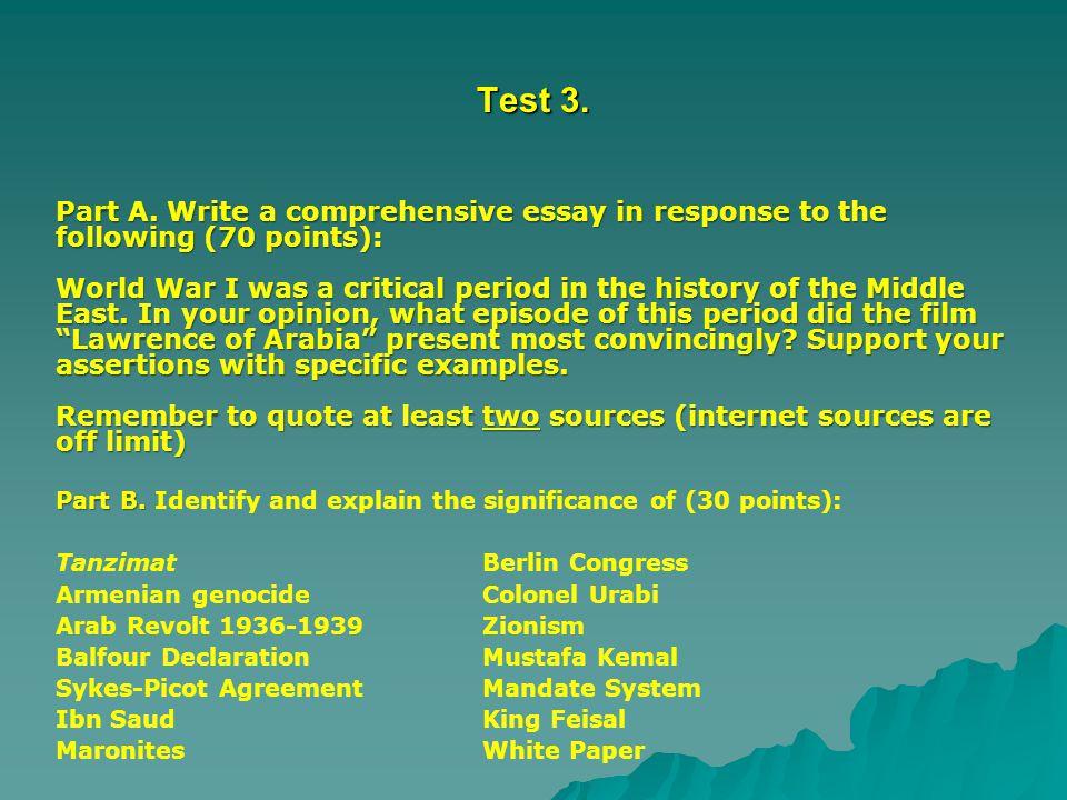 Test 3. Part A.