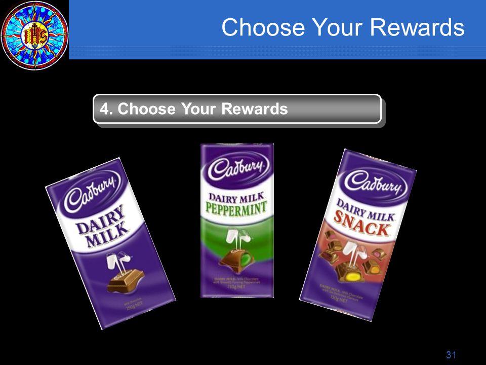 31 Choose Your Rewards 4. Choose Your Rewards