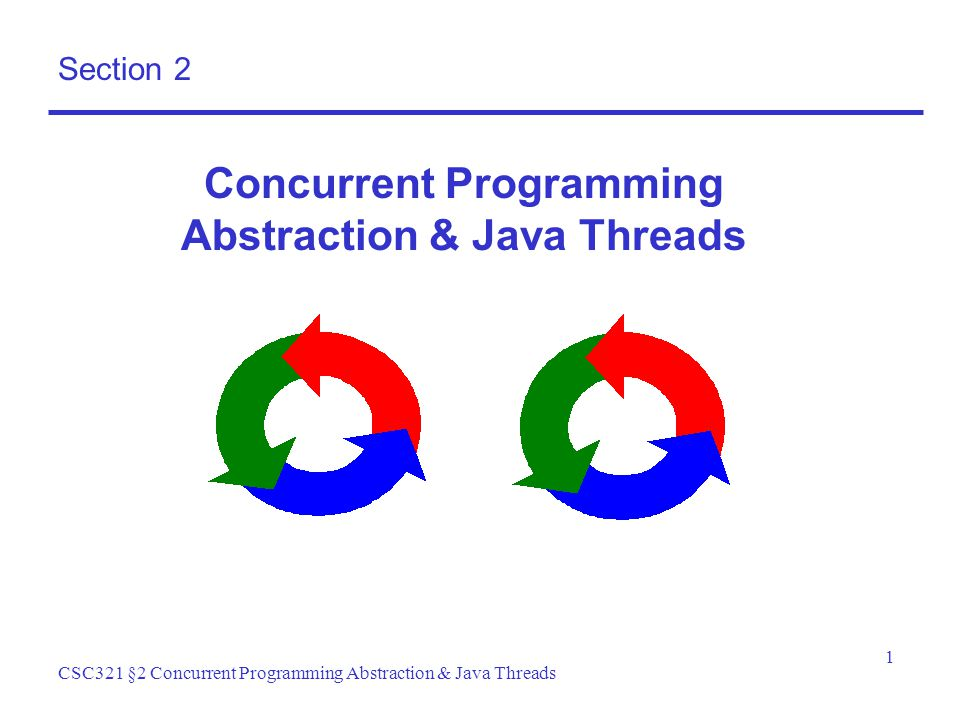 1 CSC321 §2 Concurrent Programming Abstraction & Java Threads Section 2 Concurrent Programming Abstraction & Java Threads