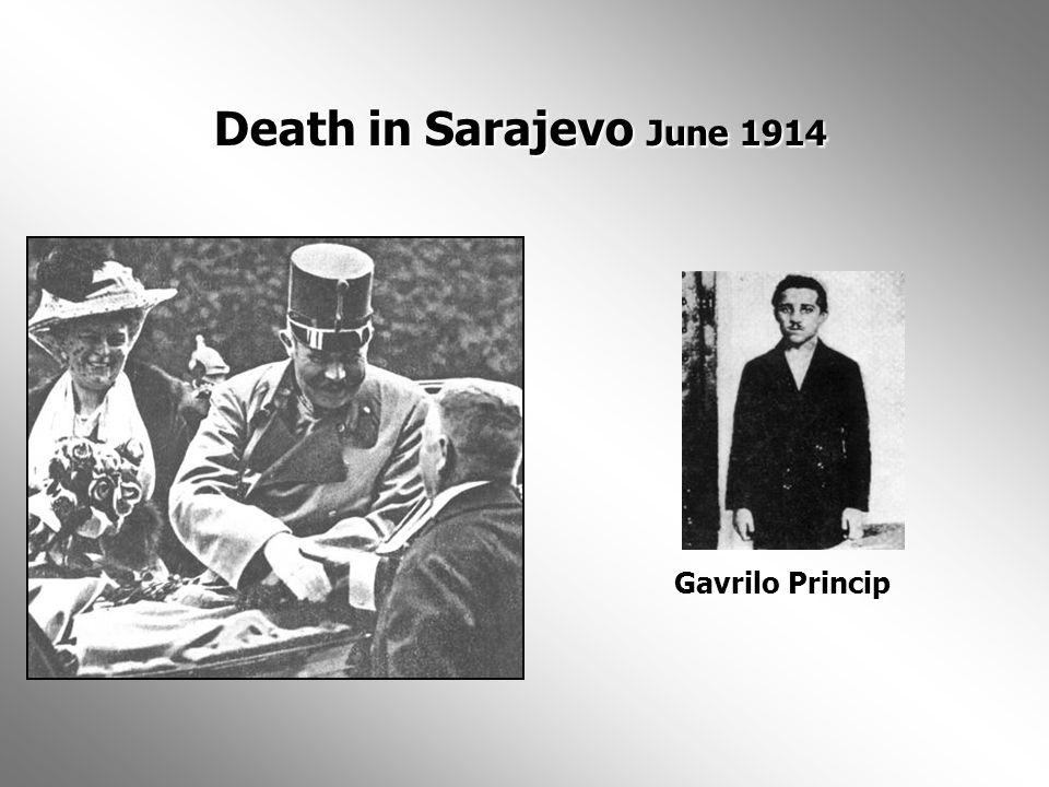 Death in Sarajevo June 1914 Gavrilo Princip