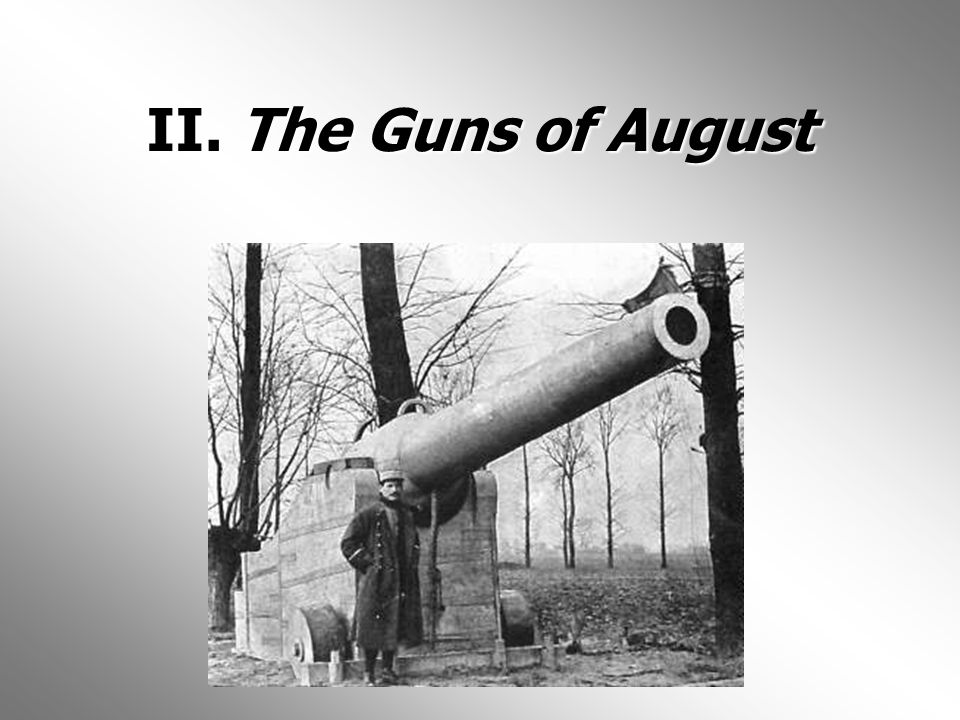 II. The Guns of August