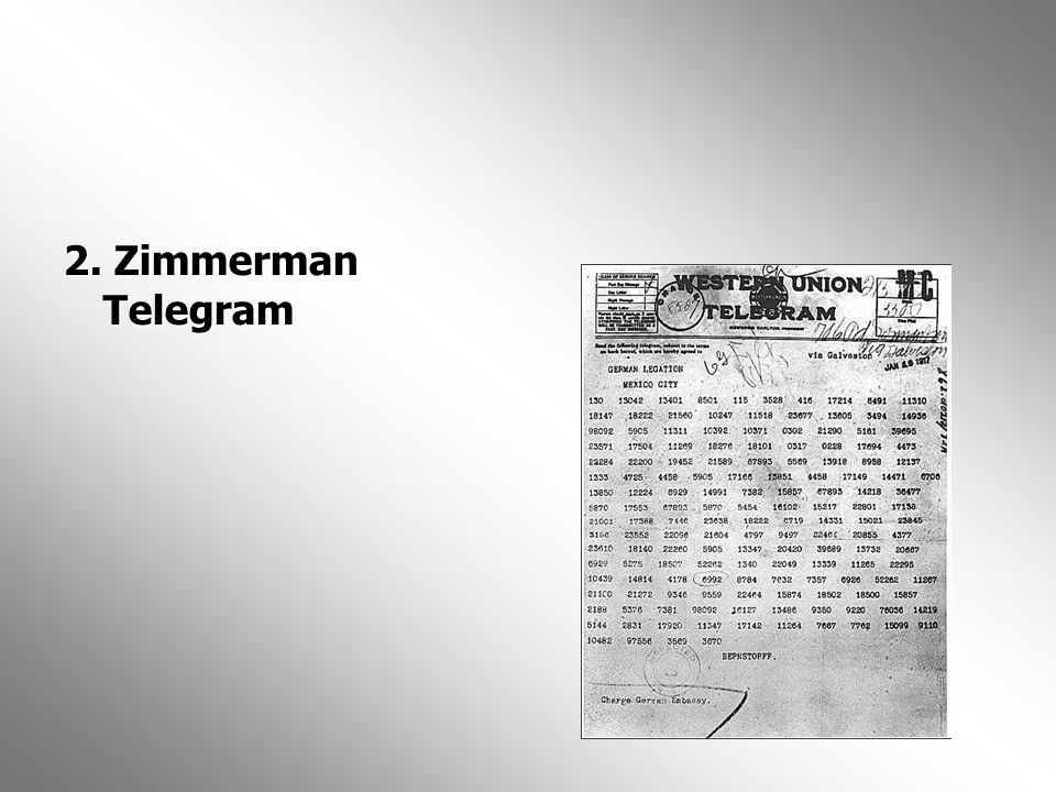 2. Zimmerman Telegram